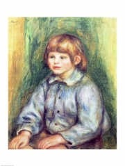 Seated Portrait of Claude Renoir Poster Print by Pierre-Auguste Renoir (18 x 24)