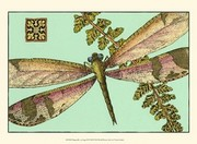 Dragonfly on Aqua II Poster Print by Vision studio (13 x 10)