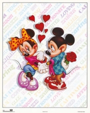 Mickey & Minnie Love Poster Print by Walt Disney (16 x 20)